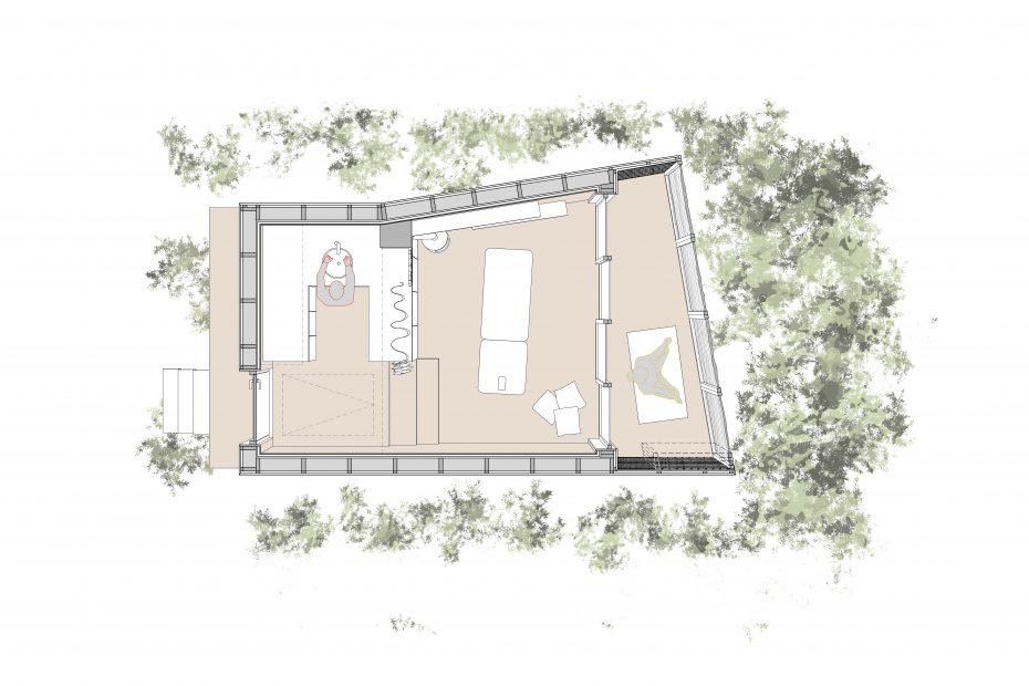 Plan - Concours pour une cabane de yoga au Portugal